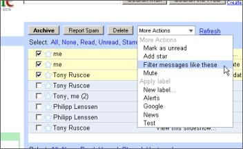 gmail filtrado
