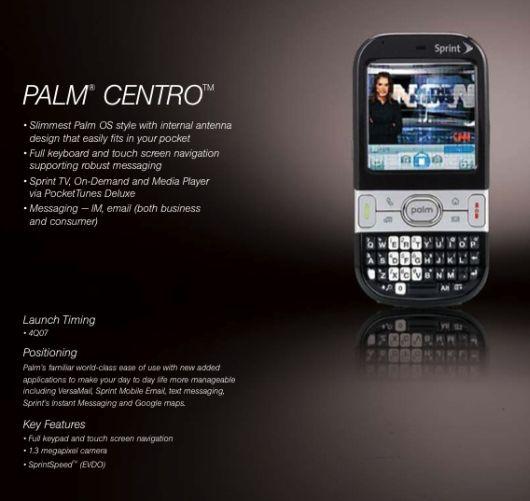 palm centro sprint